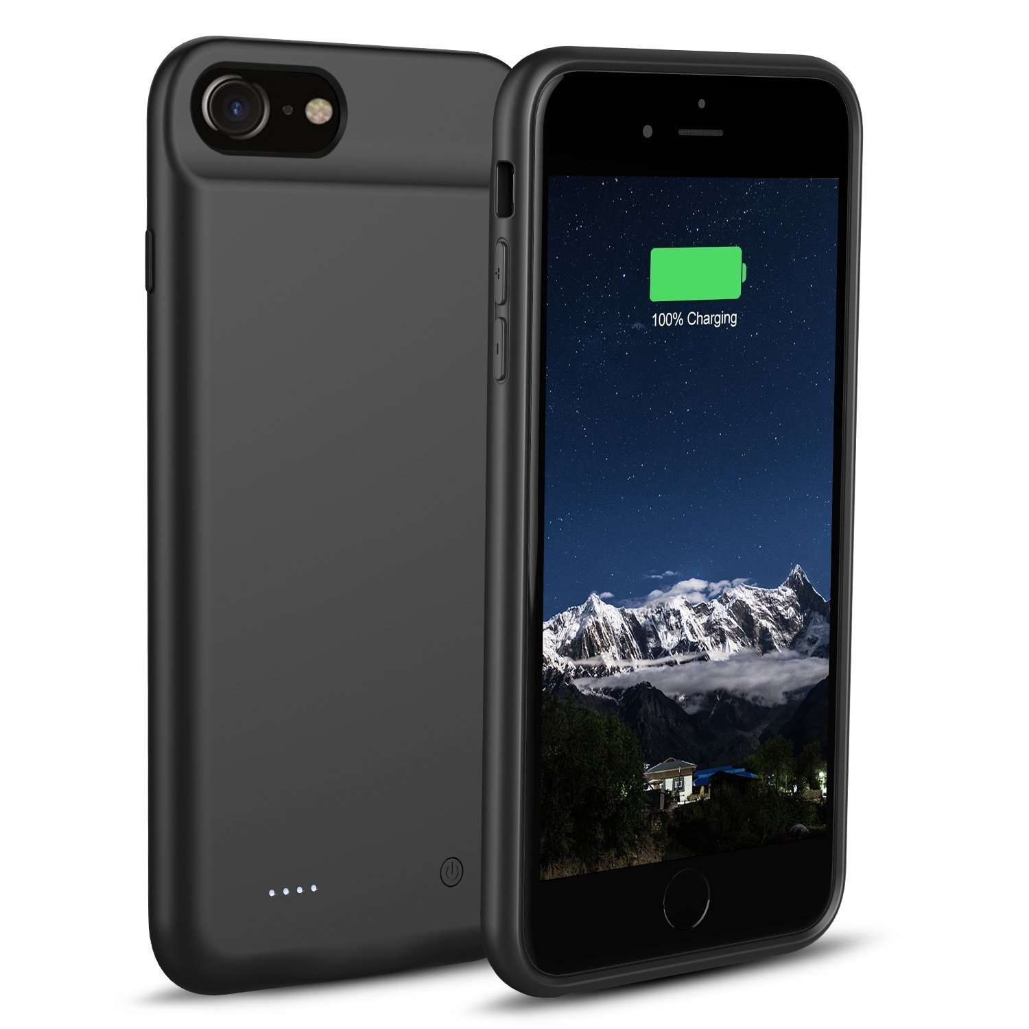 iZamWow iPhone 6/6s/7/8 Battery Case, 3000mAh Portable Charger Case Rechargeable Extended Battery Pack Protective Backup Charging Case Cover (Black)