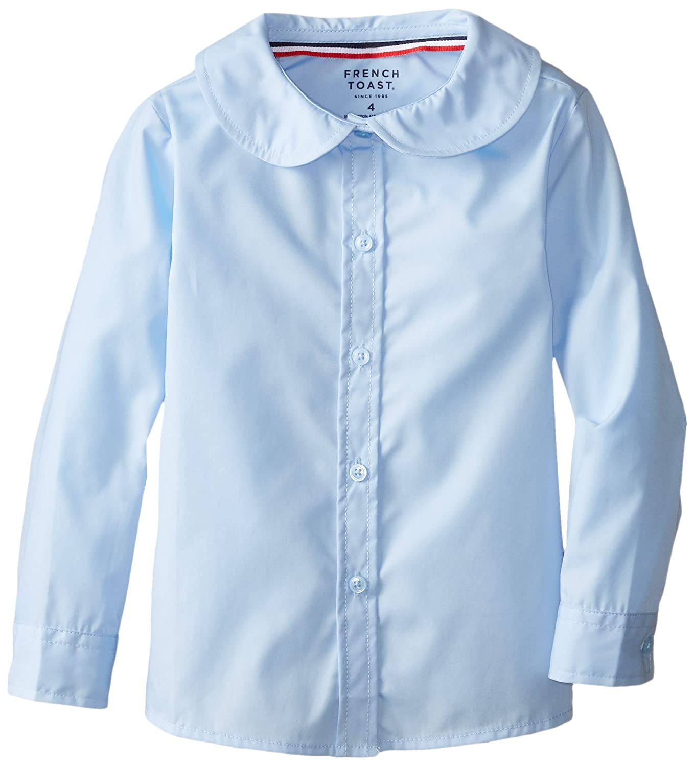 French Toast Girls' Long Sleeve Peter Pan Blouse SE9321