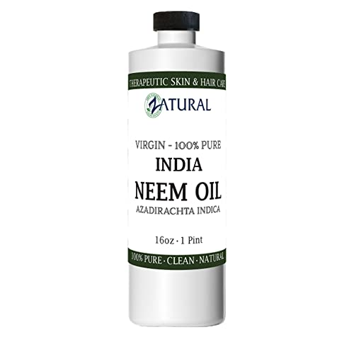 Organic Neem Oil 16 oz 100 Pure Cold Press Skin, Hair, and Nails