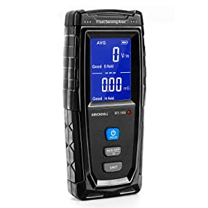 ERICKHILL EMF Meter, Rechargeable Digital Electromagnetic Field Radiation Detector Hand-held Digital LCD EMF Detector, Great Tester for Home EMF Inspections, Office, Outdoor and Ghost Hunting