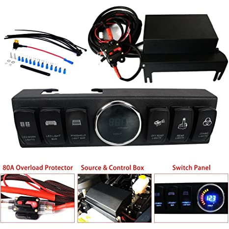 Jeep JK Control Box - Electronic 6 Relay System Module - Wiring Harness  Jeep Wrangler Stereo Wiring Harness on