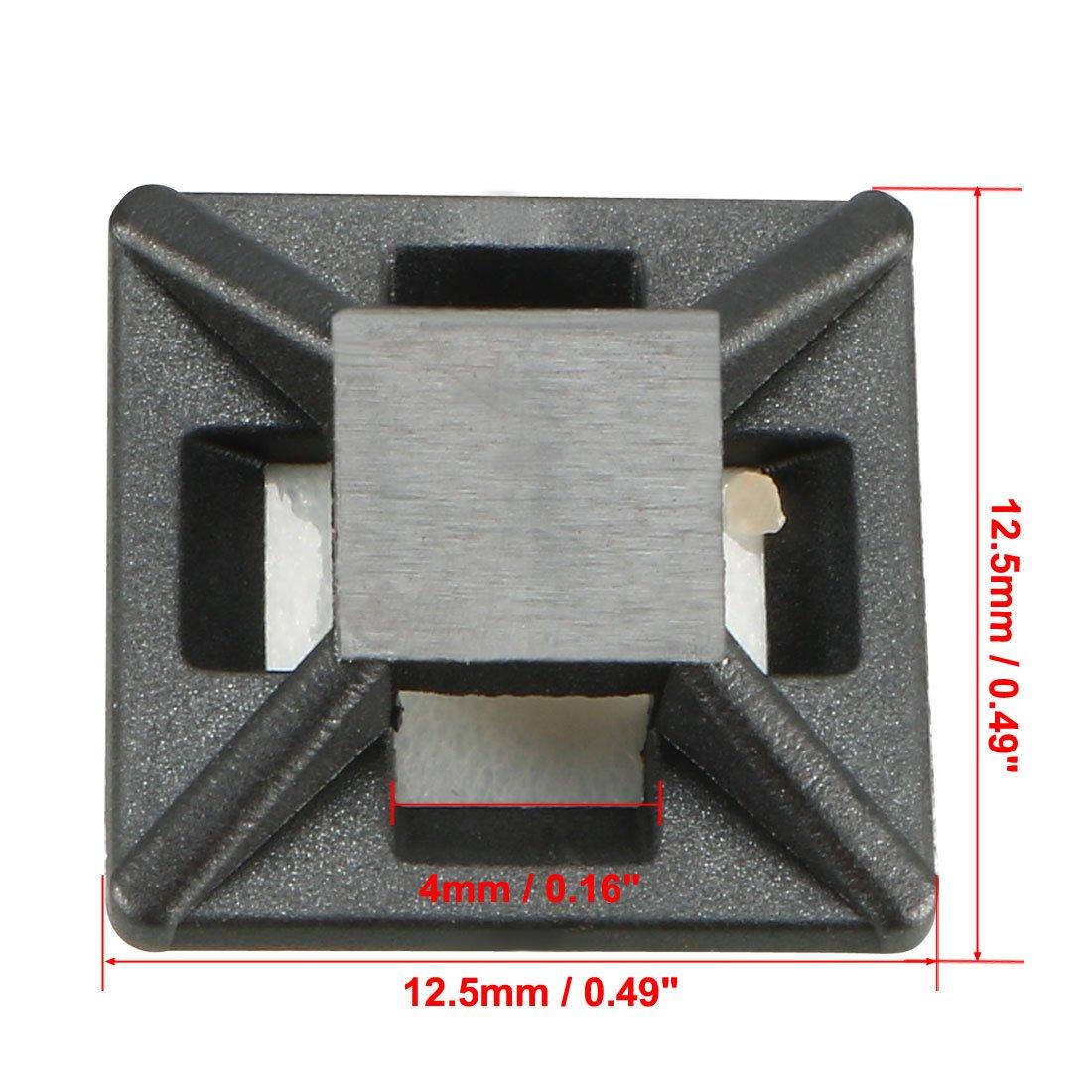 3/mm Largeur trou auto-adh/ésif Cable Tie Mount Base Vert Blanc 100/pcs