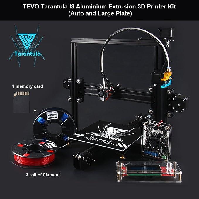 TEVO Tarantula I3 Impresoras 3D con 2 Rolls Filament y Tarjeta de ...