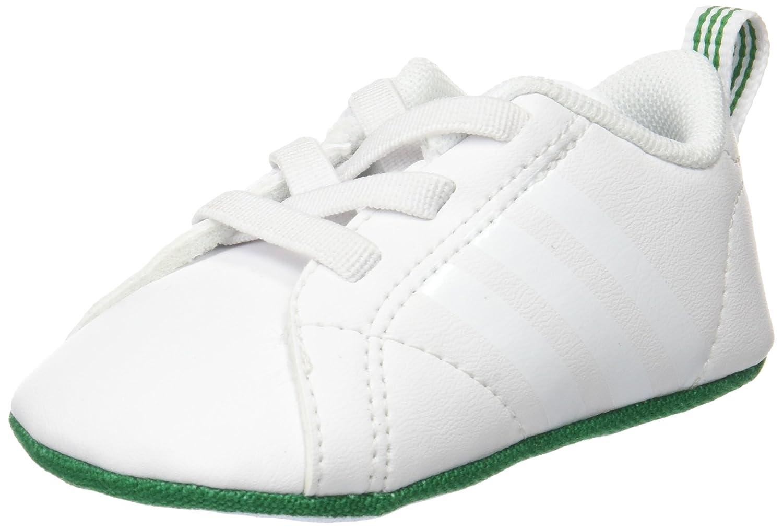 adidas Unisex Baby Vs Advantage Crib Krabbel- Hausschuhe Weiszlig;/Rosa
