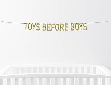 Nursery Banner Toys Before Boys Glitter Decor Childrens Bedroom Home