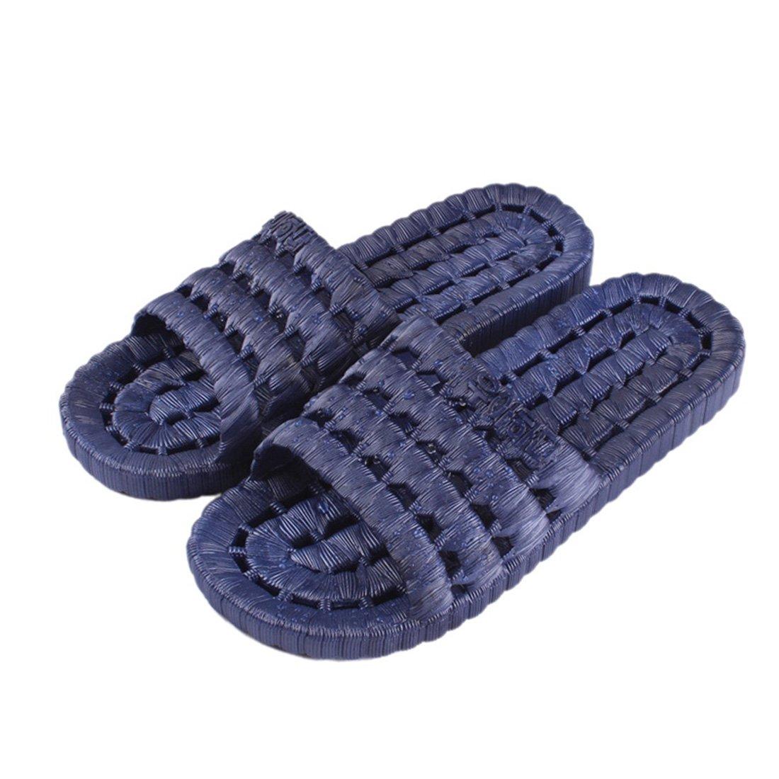 Enerhu Men Anti Slip Shower Shoes Bathroom Slippers Home Sandal Indoor Quick Drying Poolside Beachside