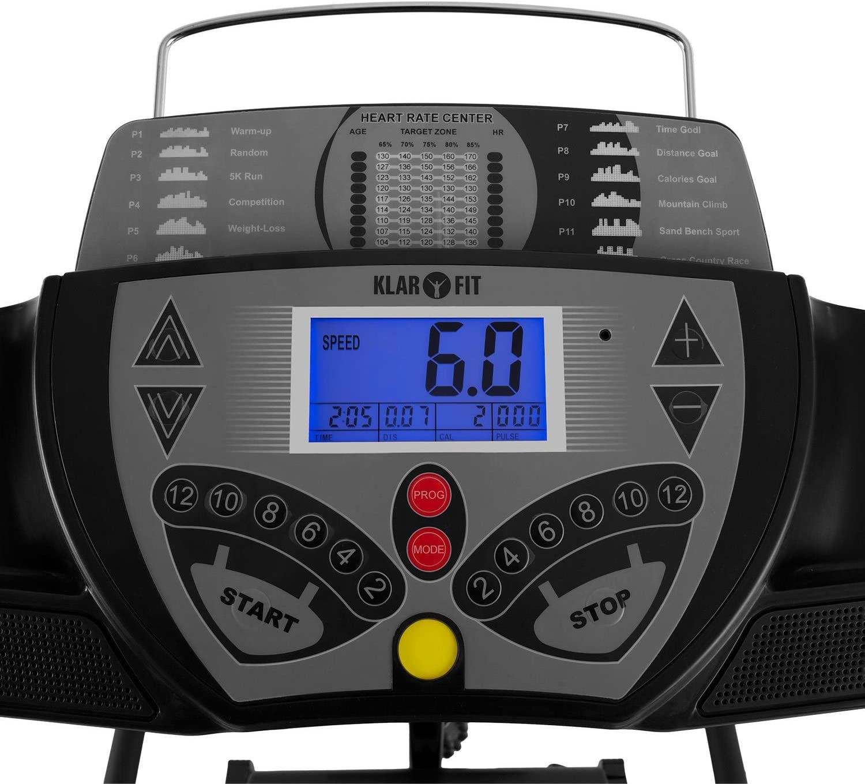 Klarfit Pacemaker FX5 cinta de correr (1,5 CV, 12 km/h, pantalla ...