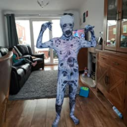 Halloween Costume 5-7 anni Kids Unisex Slenderman Skinz Medio
