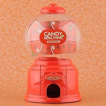 MAQUINA CARAMELOS Dispensador Golosinas y Frutos Secos Máquina de Chicles Caja de Ahorro moneda 4 colores (rojo): Amazon.es: Juguetes y juegos
