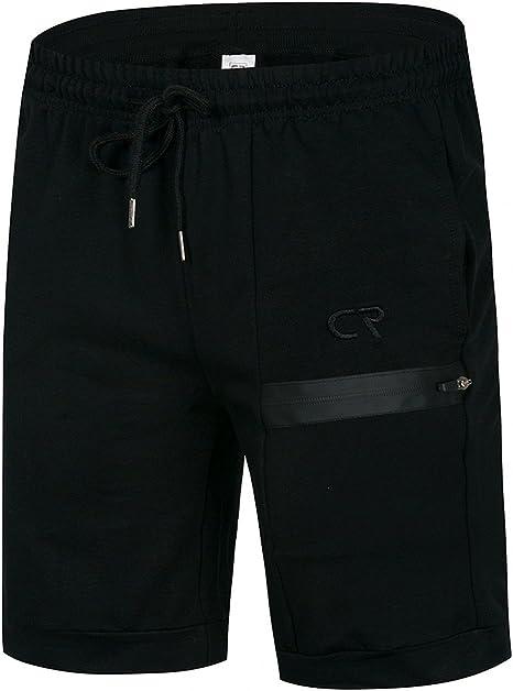 Coconut Ropamo CR - Pantalones cortos de entrenamiento para hombre con bolsillo con cremallera para culturismo