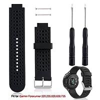 Band Replacement For Garmin Forerunner 235 Watch, Rukoy Soft Silicone Replacement Watch Band for Garmin Forerunner 235 220 230 620 630 735 Smart Watch