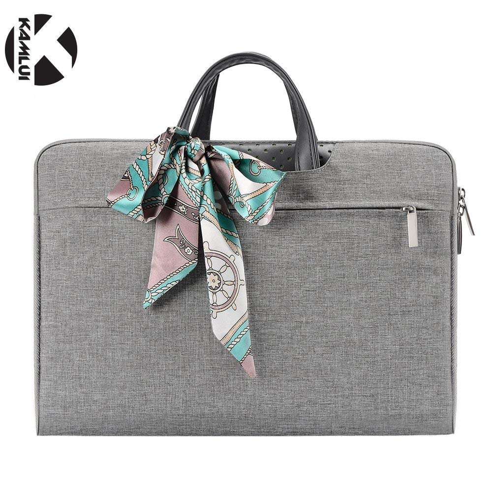 f28b50eed89b Kamlui Laptop Computer Bag 13.3 Inch - for Women Slim Cute Waterproof  Notebook Briefcase Tote Bag Ladies Men Small Briefcase - for MacBook Air  Dell ...