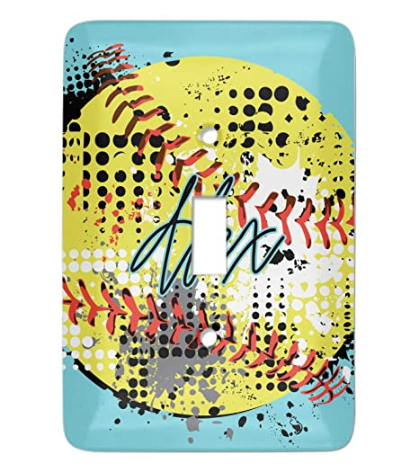 Softball Light Switch Cover Single Toggle Personalized