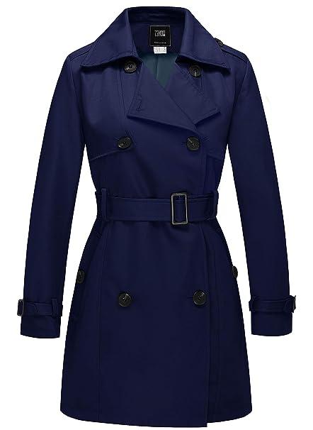 4bf5c64bdd3524 ZSHOW Cappotto Doppiopetto con Cintura Trench Coat Donna: Amazon.it:  Abbigliamento