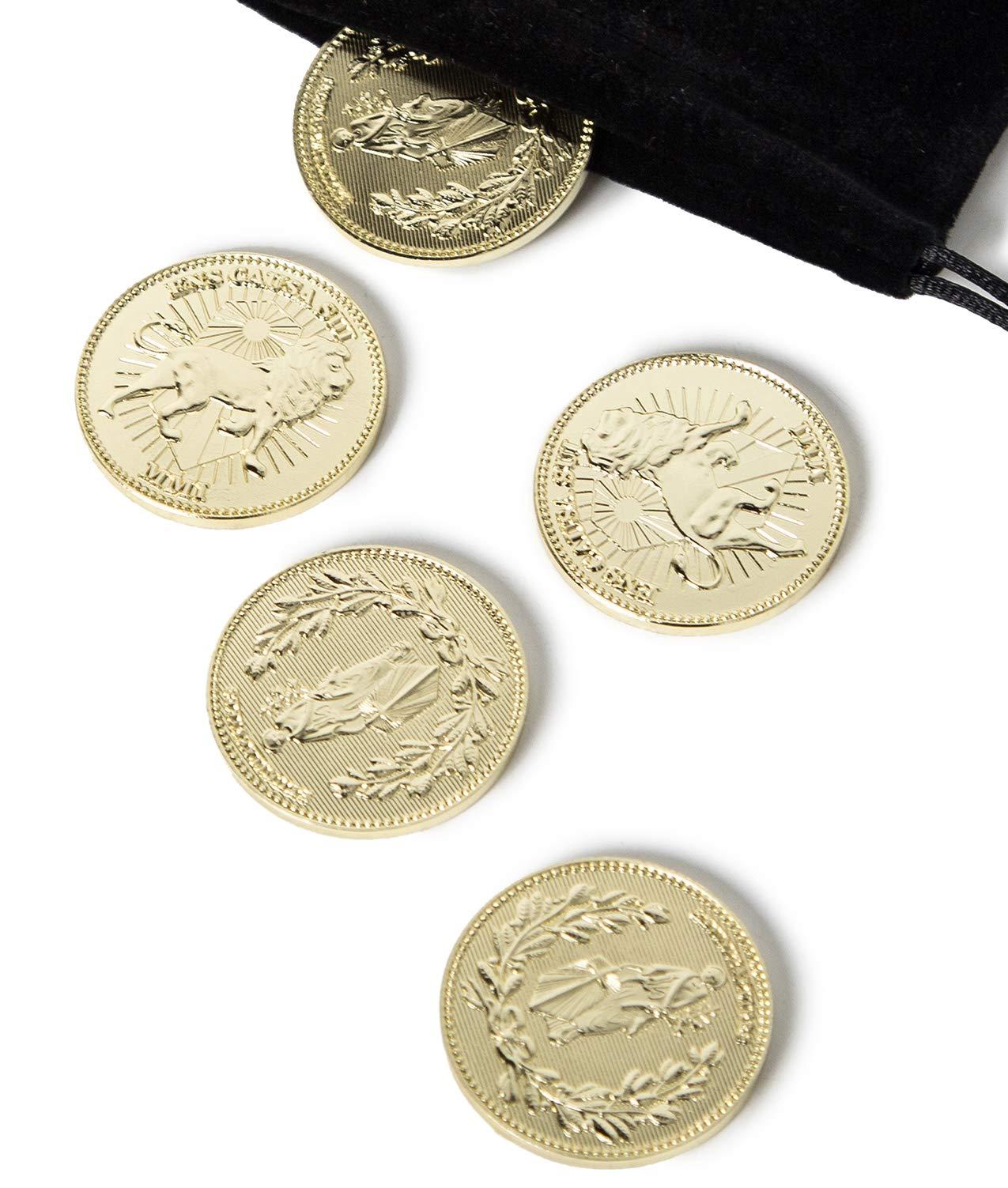 John Wick Coin,John Wick Collecting Coins Golden Metal Coin 5 Pcs