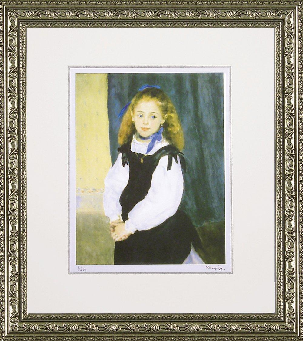 ユーパワー Museum series ミュージアムシリーズ(ジグレー版画) アートフレーム ルノワール 「ルグラン嬢の肖像」 MW-18038 B003S25QNI