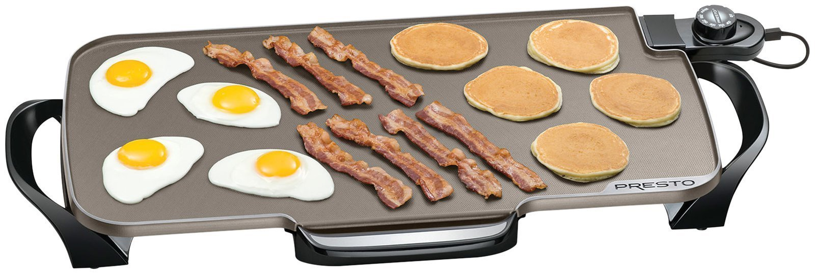 Presto 07062 Ceramic 22-inch Electric Griddle with removable handles Black by Presto (Image #2)