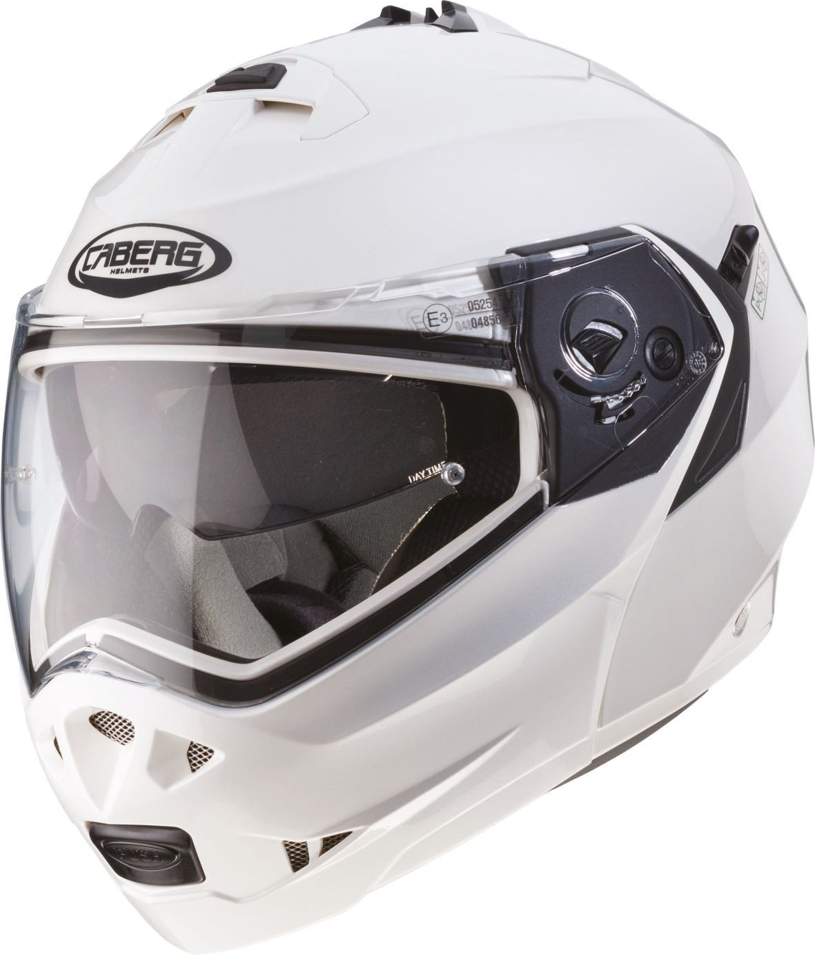 Casco Helmet Helm CABERG DUKE DOPPIA OMOLOGAZIONE apribile bianco white metal taglia XL 3MO031 10_62