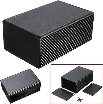 1 caja electrónica de aluminio negra PCB para medidor de ...