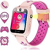 Reloj Inteligente para Niños, GPS/LBS para Niños Cumpleaños Presente Cámara SIM Llamadas Toque