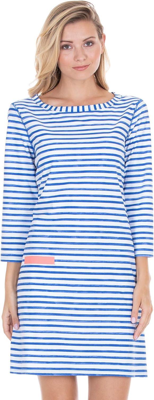Cabana Life Womens Signature Boat Neck 3//4 Sleeve Tunic Swim Cover Up