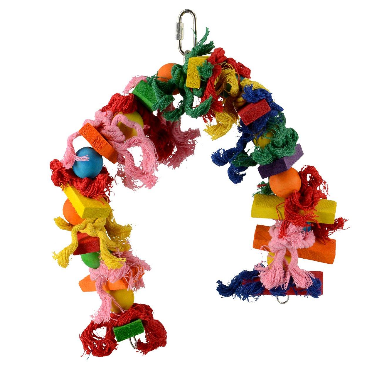 Animal Treasures LBW-0647 Birdie Knotrageous Flexi Bird Toys