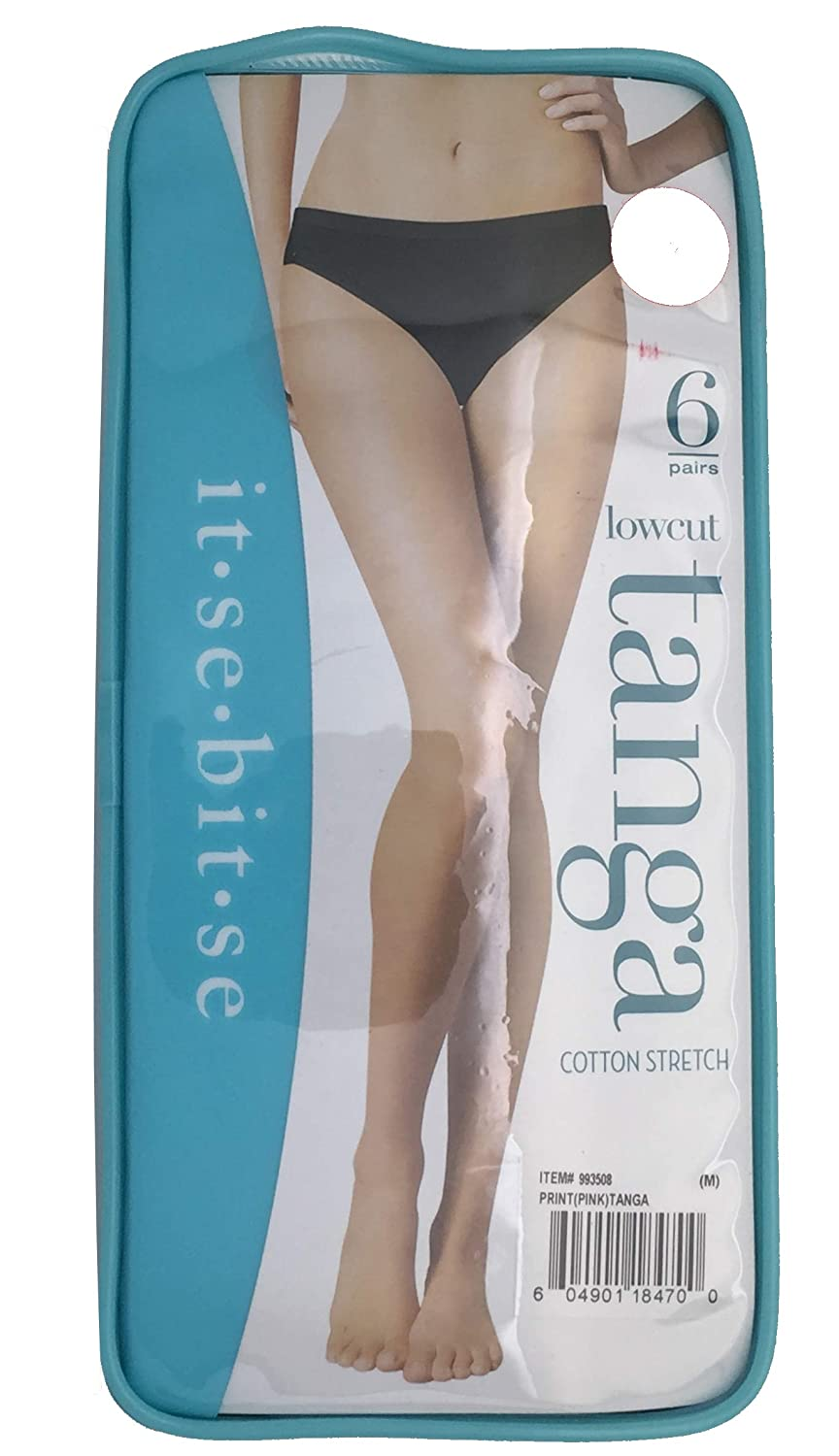 It-Se-Bit-Se LowCut Ladies Panties 6 Pack, S/M / L/XL