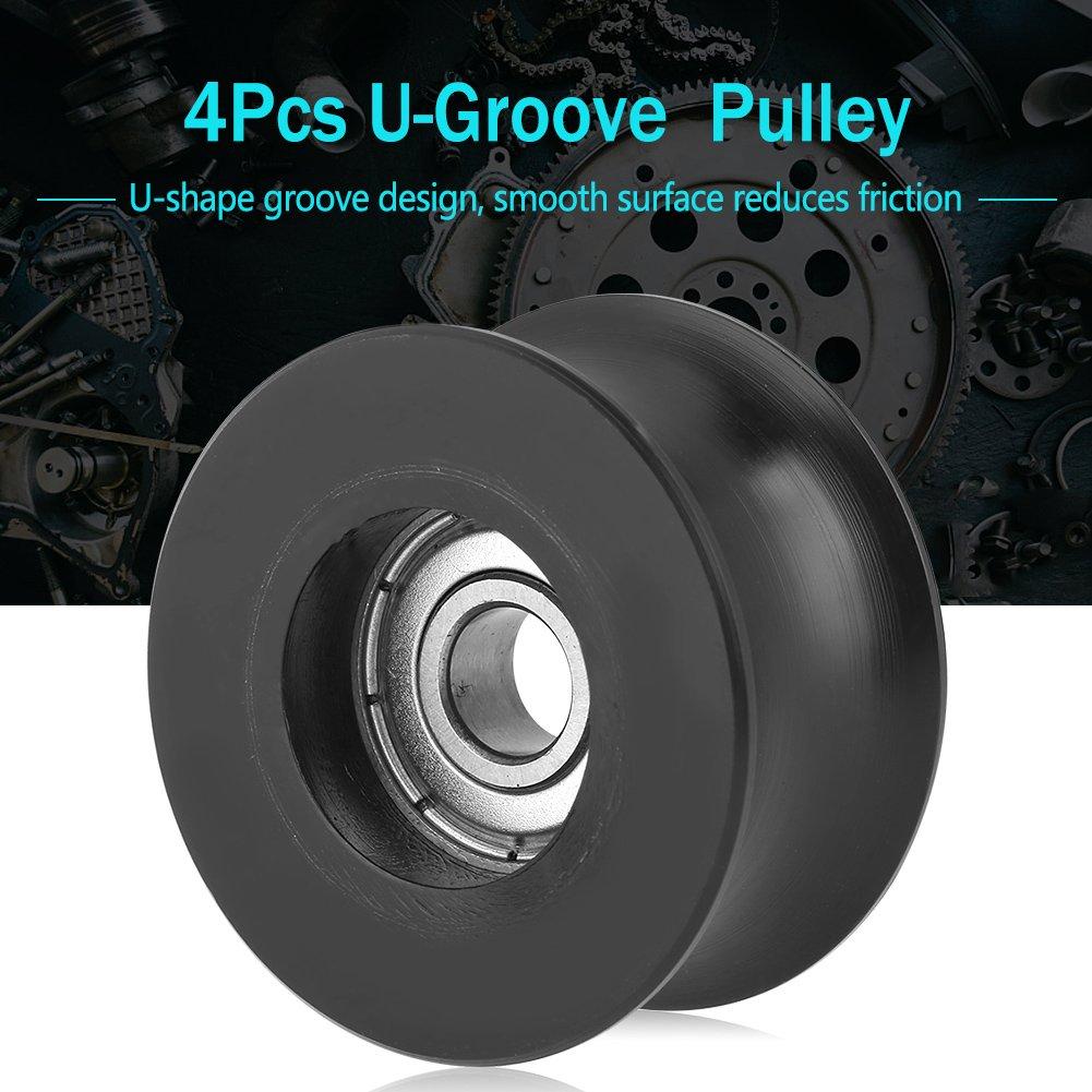 Roue de Guidage /à Galets de poulie de Type U 0840UU pour Portes et fen/êtres permettant de Suivre et de Piloter des /équipements m/écaniques 8x40x20.7mm 4pcs poulie U-Groove durables et Robustes