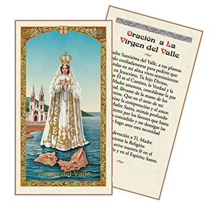 Amazon.com: Oracion a La Santisima Virgen Del Valle Tarjeta ...