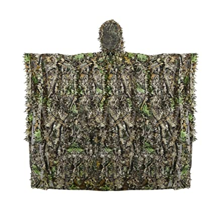 Poncho de Camouflage, Traje de Camuflaje Hoja Protector ...