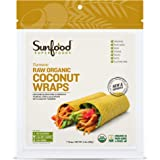 Sunfood Superfoods Turmeric Coconut Wraps Raw Organic 7 ct