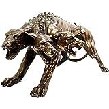 GREEK GUARD DOGS HADES HELL HOUND CERBERUS KERBEROS STATUE FIGURINE