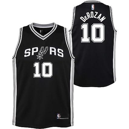 3dcb94b6ff8 Outerstuff DeMar DeRozan San Antonio Spurs #10 Black Toddler Alternate  Replica Jersey (2T)