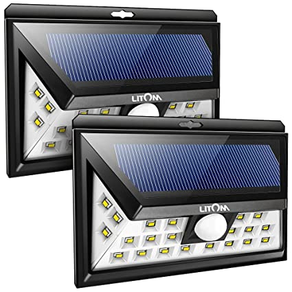 Litom solar lights outdoor 2nd generation 24 led wireless solar litom solar lights outdoor 2nd generation 24 led wireless solar motion sensor lights with 270 aloadofball Images
