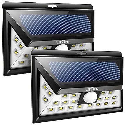 Litom solar lights outdoor wireless 24 led motion sensor solar litom solar lights outdoor wireless 24 led motion sensor solar lights with wide lighting area aloadofball Gallery