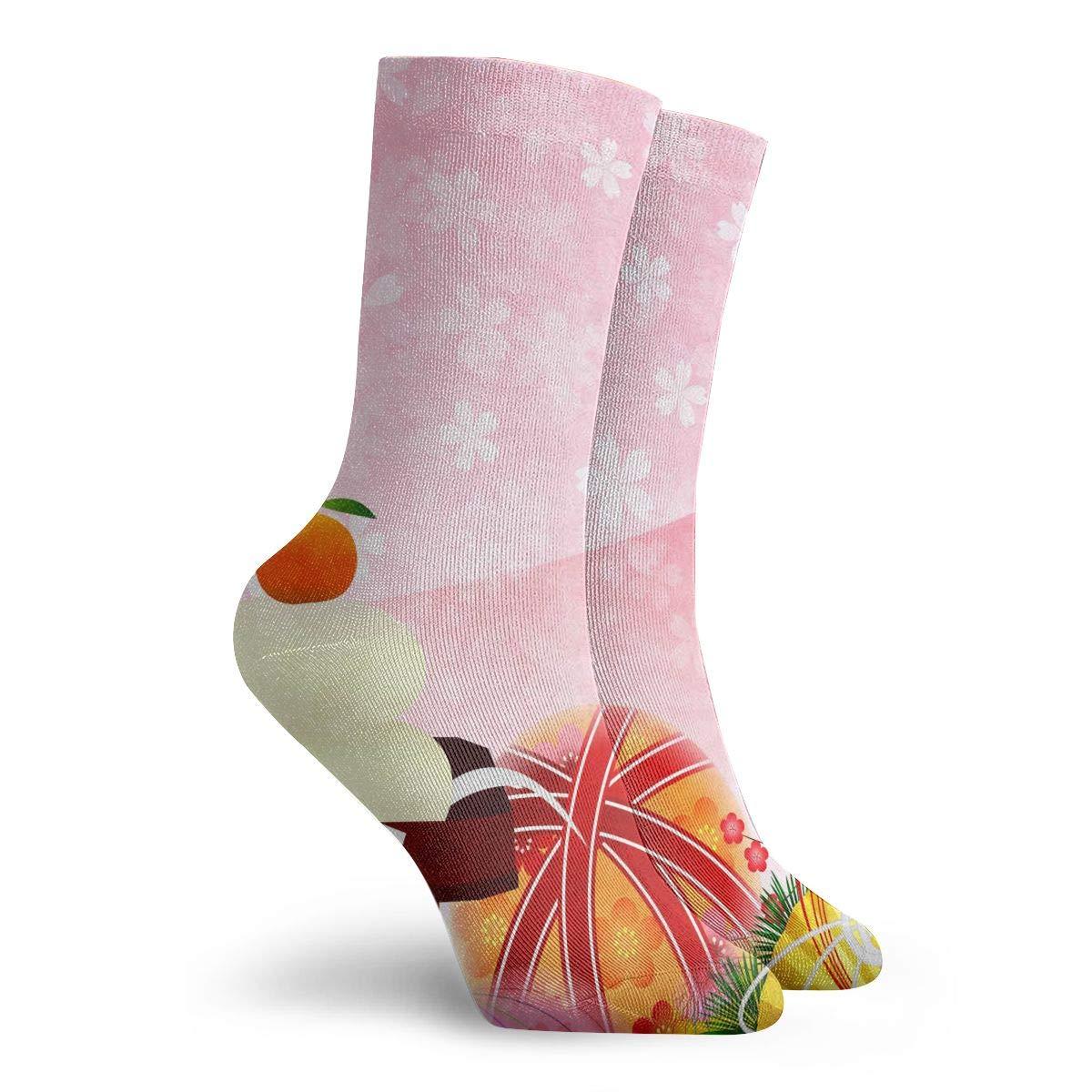 WEEDKEYCAT Japanese Fan Sushi Crane Adult Short Socks Cotton Gym Socks for Mens Womens Yoga Hiking Cycling Running Soccer Sports