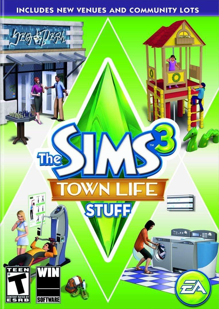 Amazon com: The Sims 3: Town Life Stuff - PC/Mac: Video Games