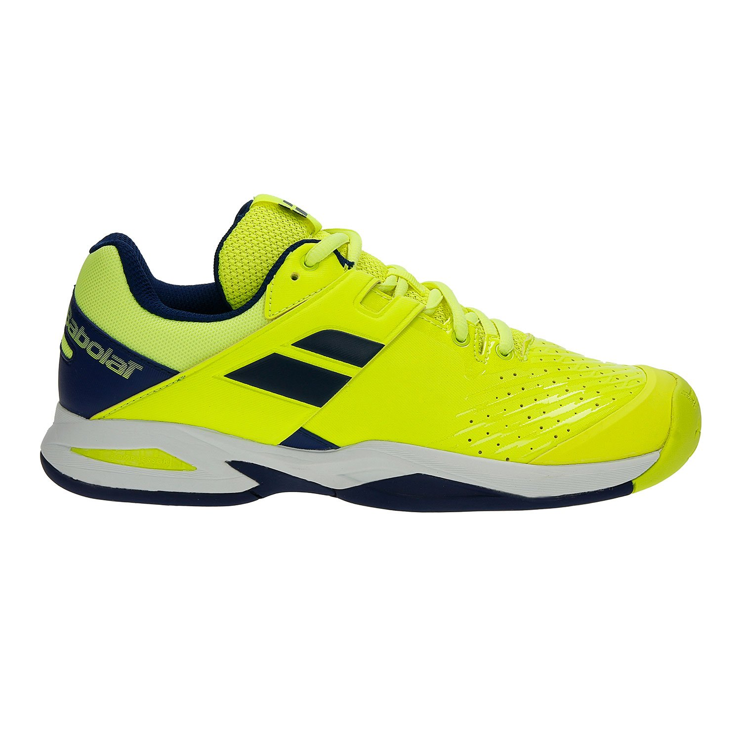 Babolat Kid's Propulse Fury All Court Junior Tennis Shoes B079FH5ST8 2 M US Little Kid|Fluo Yellow/Estate Blue