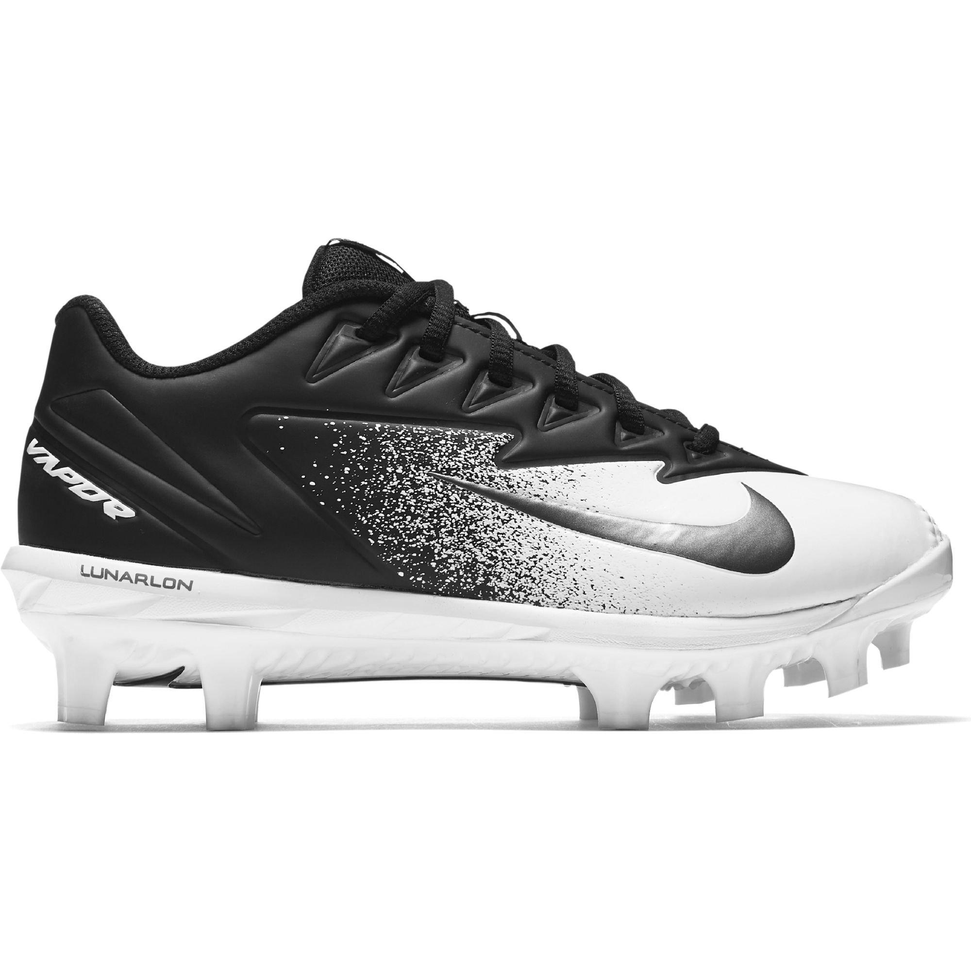 Nike Boy's Vapor Ultrafly Pro MCS Baseball Cleat Black/Metallic Silver/White Size 3 M US