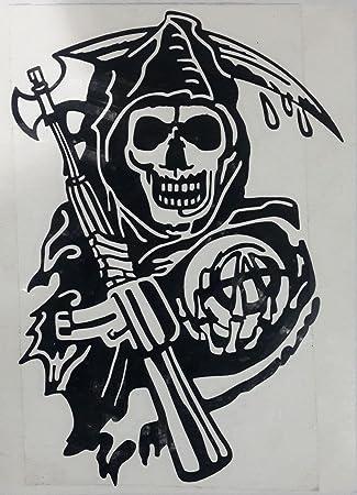 2x Sons Of Anarchy SOA Sticker Decal Aufkleber 11x16cm Die Cut Grim Reaper Biker Jax Teller