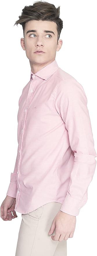 Oxford Borneo Salmon - Camisa Sportwear Oxford de Hombre con Manga en Salmón (Talla S): Amazon.es: Ropa y accesorios