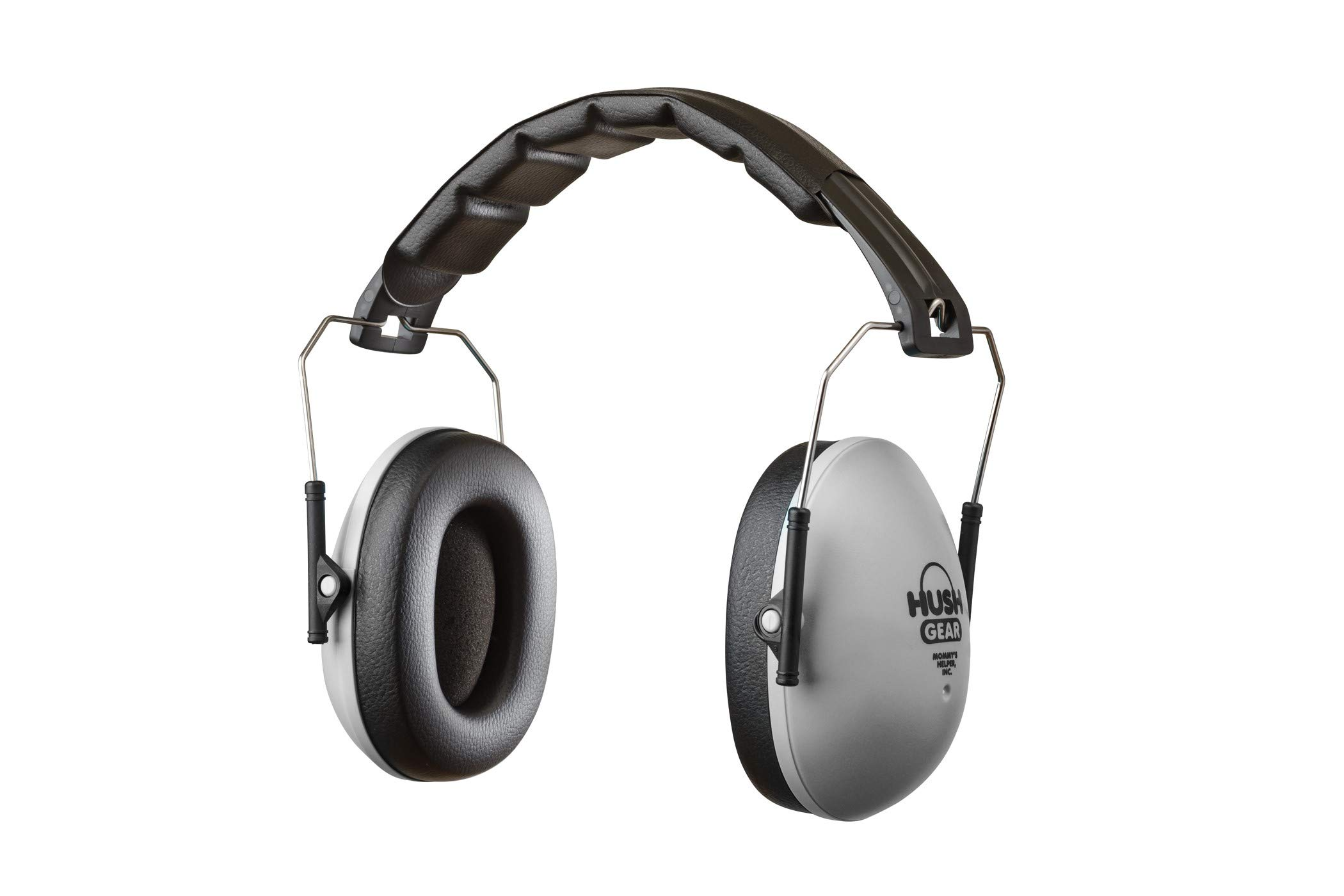 Mommys Helper Hush Gear Noise Cancelling Headphones for Kids Ear Protection Earmuffs - 28.6dB Noise Reduction for Toddler Ear Protection - Adjustable, Padded, Comfortable Fit Earmuffs for Kids, Grey