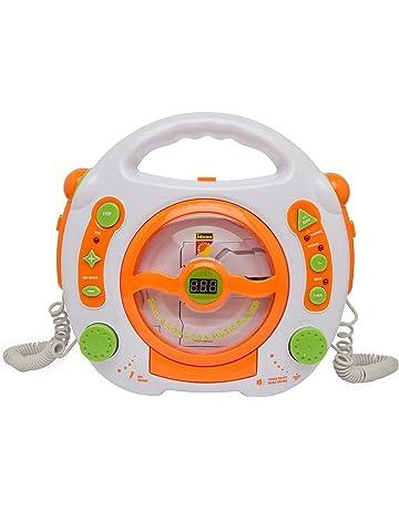 Idena 6800533 - Reproductor de CD y MP3 (con 2 micrófonos para cantar y puerto