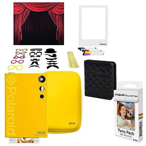 Polaroid Mint Cámara Instantánea (Amarillo) Kit Cabina de Fotos ...