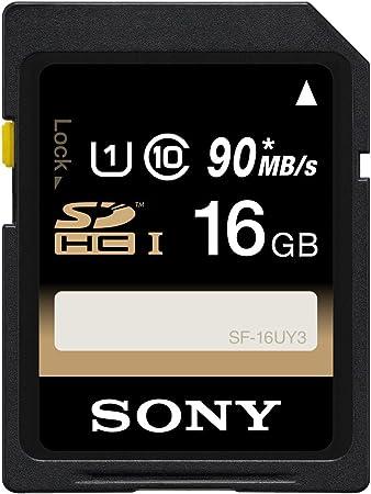 Sony SF16U - Tarjeta de memoria SDHC de 16 GB (Clase: 10, 40 MB/s, UHS-I)