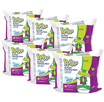 Pampers Kandoo Flushable Wipes, Magic Melon Scent, 100 Count Refills (Pack Of 6