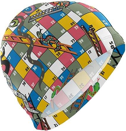 Gorro de natación, juegos de mesa Gorro de baño Gorro de baño para hombre Spandex Gorro de baño Diseño súper elegante/Confort óptimo/Apto para la piel/f: Amazon.es: Belleza