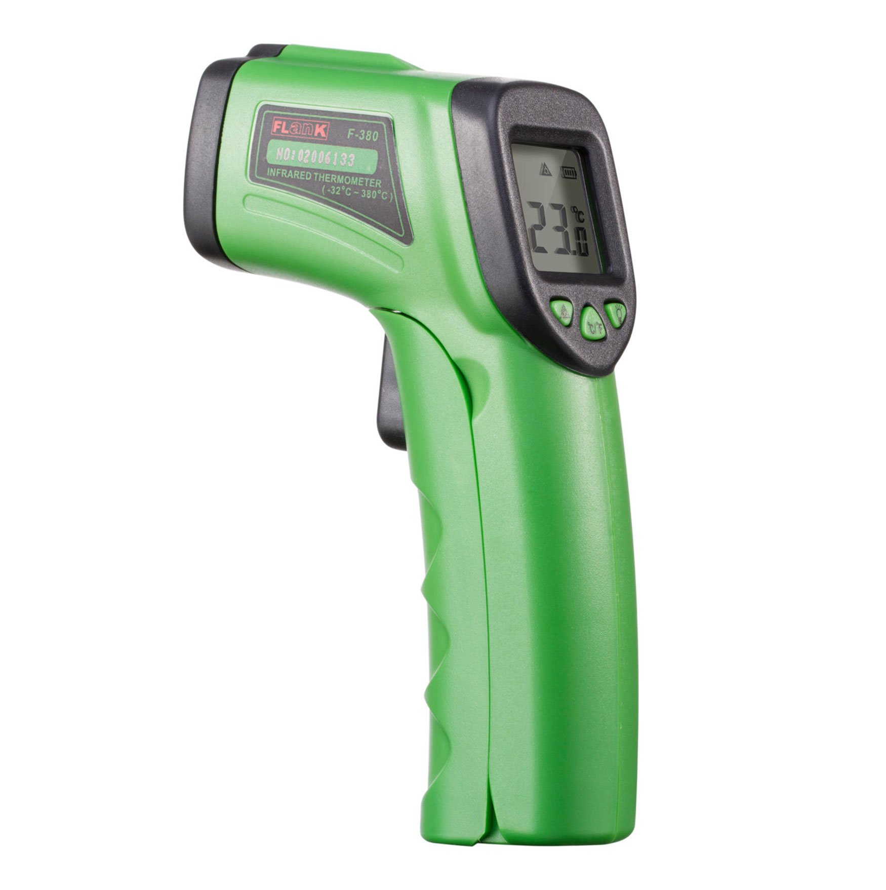 None Contact Temperature Meter Gun using Infrared Thermometer measures From -58℉ - 716℉ (-32℃ - 380℃)