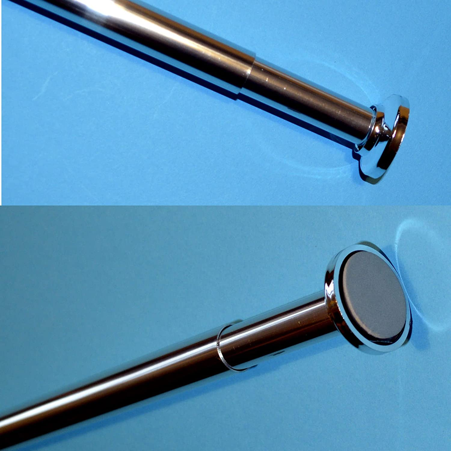 Telescopic Rail 125-220cm Shower Curtain Rod Bath Extendable Pole ...