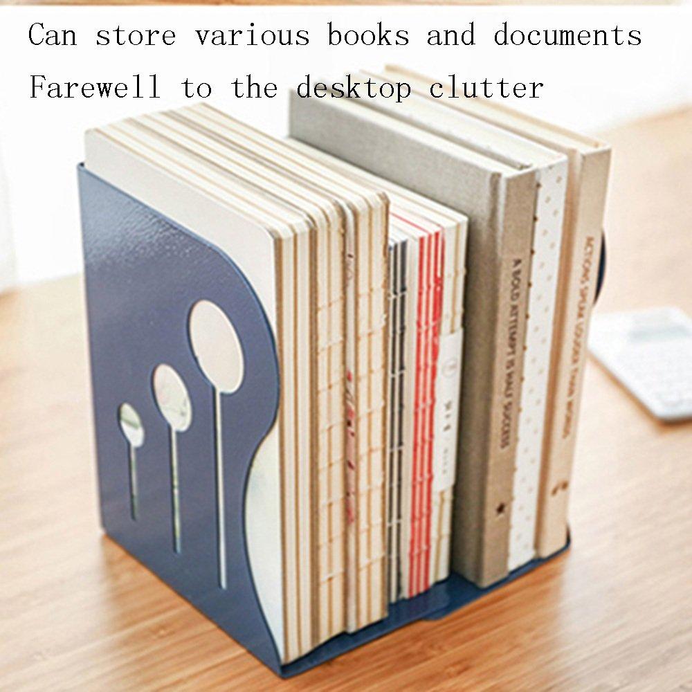 Bookshelf YZRCRKSimple Retráctil Estantería Plegable Estantería Sujetalibro Vintage Estudiante Color Vintage Sujetalibro Hierro Arte Librería Escritorio Estantería (Color : Amarillo, Tamaño : Metro) 6ec4bb